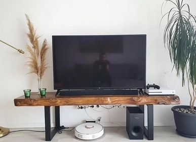Hotel rooms - Solid Wood TV Stand, Fir - MASIV_WOOD