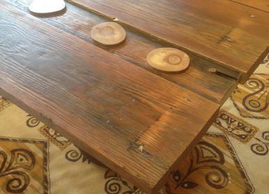 Tables Salle à Manger - Table «table en bois fait main en matériel d'upcycling» - LIVING MEDITERANEO