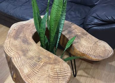 Objets design - Table basse en bois massif, sapin - MASIV_WOOD