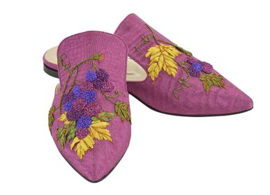Shoes - Grape Harvest Slipper Shoes - AC ANATOLIANCRAFT