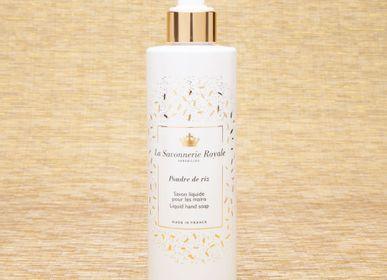 Soaps - 8.33 fl.oz liquid hand soap Poudre de riz - LA SAVONNERIE ROYALE