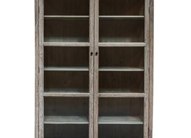Bookshelves - CABINET GLASS NATURAL RAW - SNOWDROPS COPENHAGEN