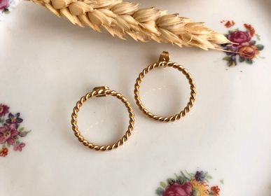 Jewelry - Gold twisted ring hoop earrings - JOUR DE MISTRAL