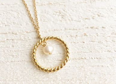 Jewelry - Freshwater Pearl Twisted Ring Necklace - JOUR DE MISTRAL