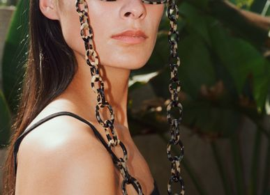 Glasses - Chunky | Bio-Acetate Light Tortoiseshell | Glasses Chain - ORRIS LONDON