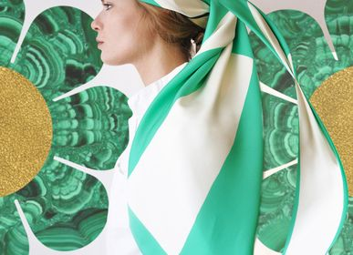 Scarves - Scarf 80'S GREEN - BE PARISIAN