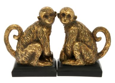 Office supplies - Golden monkeys bookends - CHEHOMA