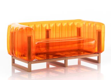sofas - YOMI EKO WOOD Sofa Orange - MOJOW