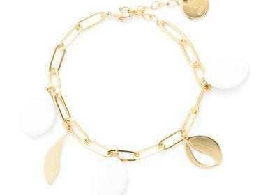 Jewelry - Olea porcelain medals bracelet - JOUR DE MISTRAL