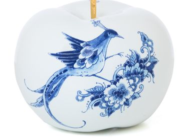 Design objects - TOUCH OF GOLD FLEUR ø 20 CM decorative item - ROYAL BLUE COLLECTION®