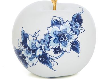 Design objects - TOUCH OF GOLD FLEUR ø 12 CM decorative item - ROYAL BLUE COLLECTION®