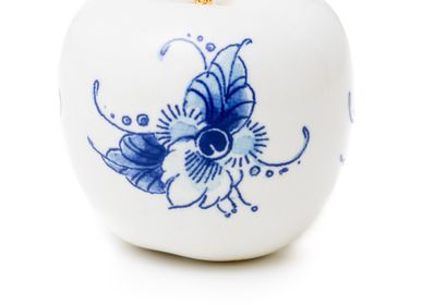 Design objects - TOUCH OF GOLD FLEUR ø 6 CM  - ROYAL BLUE COLLECTION®