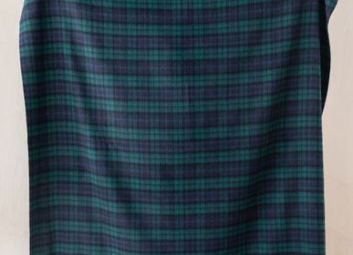 Throw blankets - Lambswool Blanket in Black Watch Tartan - THE TARTAN BLANKET CO.