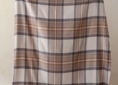 Throw blankets - Lambswool Blanket in Stewart Natural Dress Tartan - THE TARTAN BLANKET CO.