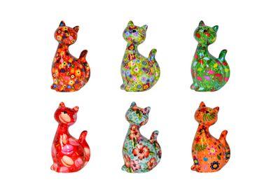 Céramique - Tirelire Chat Modèle Caramel - POMME-PIDOU