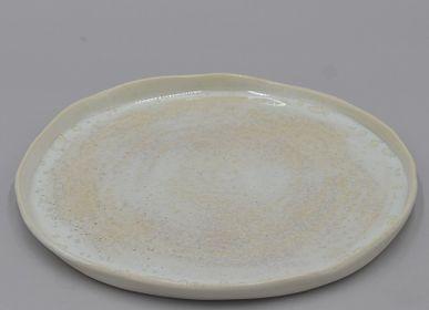 """Assiettes de reception - Vaisselle porcelaine """" Rêves divers """" - ATELIER ENTRE TERRES"""