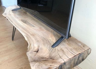 Furniture and storage - Solid Wood TV Stand, Walnut - MASIV_WOOD