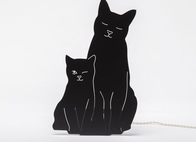 Other wall decoration - The Kitties Lamp (Black) - GOODNIGHT LIGHT