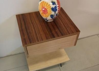Design objects - Night stand maple with walnut top - LIVING MEDITERANEO