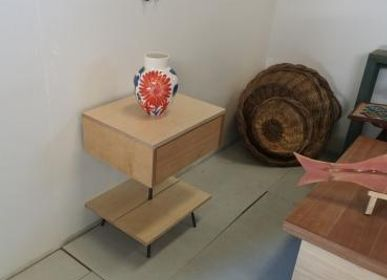 Design objects - Night stand maple with maple top - LIVING MEDITERANEO