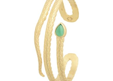 Jewelry - SERPENTINE Green Agate Cuff - COLLECTION CONSTANCE
