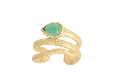 Jewelry - Bague SERPENTINE Agate verte - COLLECTION CONSTANCE