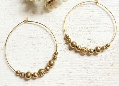 Jewelry - Big Donna Pearl Hoop Earrings - JOUR DE MISTRAL