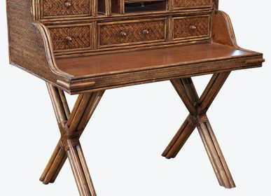 Desks - Panama Writing Desk Rattan  - ISHELA EUROPA LDA