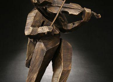 Sculptures, statuettes et miniatures - Sculpture Rythme vibrant (Violon) - GALLERY CHUAN