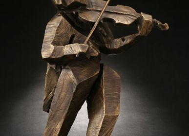 Sculpture - Vibrant rhythm (Violin) - GALLERY CHUAN
