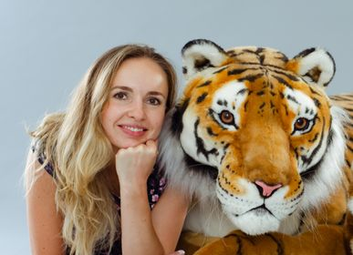 Sculptures, statuettes and miniatures - Realistic tiger. Sweet Full-Size Ecological Christmas Sculpture Custom Tiger Portrait, Fake Taxidermy, Birthday Photo Accessories, Zoo Safari Decoration, - KATERINA MAKOGON