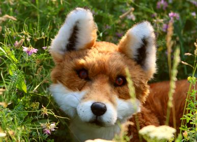 Sculptures, statuettes and miniatures - Eco friendly Easter Custom Realistic toy fox. Faux taxidermy - KATERINA MAKOGON