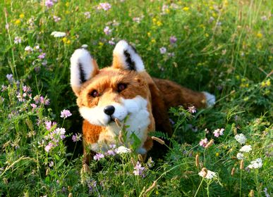 Sculptures, statuettes and miniatures - Realistic toy fox. Faux taxidermy - KATERINA MAKOGON