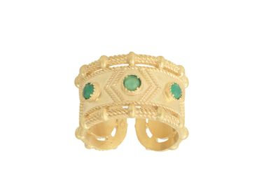 Jewelry - Ring PENELOPE Green Agate - COLLECTION CONSTANCE