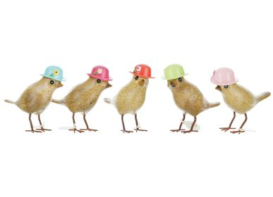 Decorative objects - Garden Birds – Floral Hats - DCUK