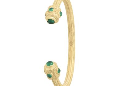Bijoux - Jonc OLYMPIA Agate verte - COLLECTION CONSTANCE
