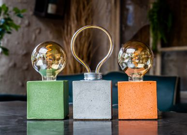Table lamps - Concrete Lamp | Cube | Coloured Concrete - JUNNY