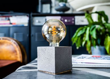 Outdoor table lamps - Concrete Lamp | Cube | Concrete grey - JUNNY
