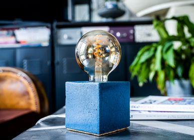 Table lamps - Concrete Lamp | Cube | Concrete grey - JUNNY