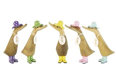 Decorative objects - Duckling with Spotty Hats & Welly Boots - DCUK