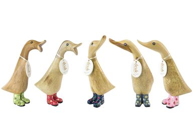 Decorative objects - Ducklings with Floral Welly Boots - DCUK