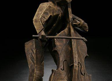 Sculptures, statuettes et miniatures - Sculpture Rythme vigoureux (Contrebasse) - GALLERY CHUAN
