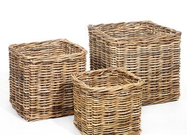 Flower pots - AF107 - Square basket set/3 - MAISON PEDERREY / TONI VAN PARIJS