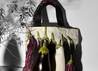 Bags / totes - Vegetable bag - Eggplants bag - MARON BOUILLIE