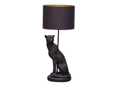 Table lamps - Black panther lamp Bagheera with shade - CHEHOMA