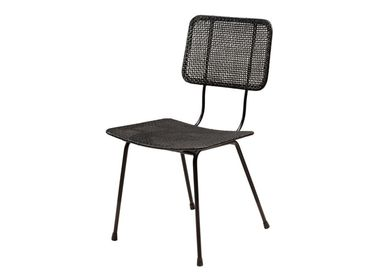Chairs - Doto black rattan chair - CHEHOMA