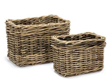 Flower pots - AF420 - Rectangular basket set/2 - MAISON PEDERREY / TONI VAN PARIJS