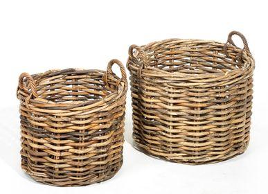 Flower pots - AF105 - Round basket set/2 - MAISON PEDERREY / TONI VAN PARIJS