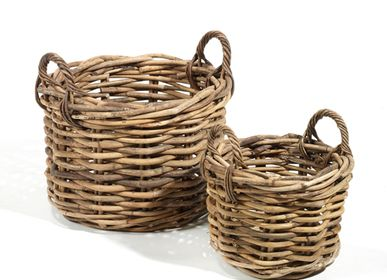Flower pots - AF254 - Round basket set/2  - MAISON PEDERREY / TONI VAN PARIJS