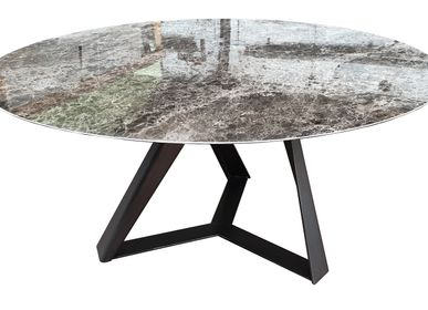 Tables - Table repas céramique, pied TORNADO - COLOMBUS MANUFACTURE FRANCE